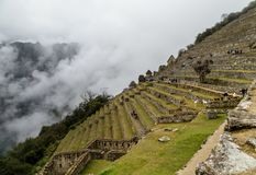 Machu Picchu, αρχαία archeological περιοχή, Περού Στοκ φωτογραφία με δικαίωμα ελεύθερης χρήσης