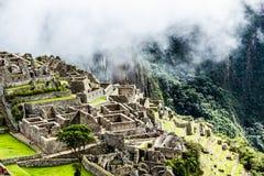 Machu Picchu, η αρχαία πόλη Inca στις Άνδεις, Περού στοκ φωτογραφίες