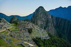Machu Picchu το πρωί Στοκ Φωτογραφία