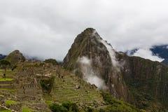 Machu Picchu в тумане Стоковое фото RF