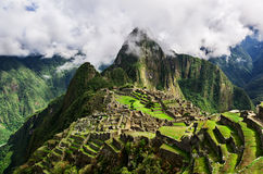 Machu Picchu, перуанское историческое святилище в 1981 и место всемирного наследия ЮНЕСКО в 1983 Один из новых 7 интересов th Стоковое Изображение