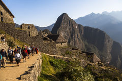 MACHU PICCHU, ПЕРУ, 12-ОЕ АВГУСТА: Machu Picchu, было конструированным Peruvi Стоковая Фотография RF