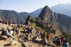 MACHU PICCHU, ПЕРУ, 12-ОЕ АВГУСТА: Machu Picchu, было конструированным Peruvi Стоковые Изображения