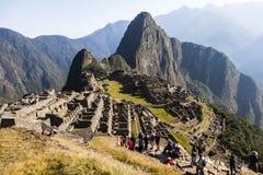 MACHU PICCHU, ПЕРУ, 12-ОЕ АВГУСТА: Machu Picchu, было конструированным Peruvi Стоковые Фотографии RF
