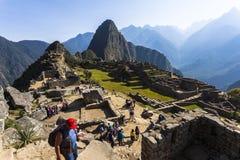 MACHU PICCHU, ПЕРУ, 12-ОЕ АВГУСТА: Machu Picchu, было конструированным Peruvi Стоковая Фотография