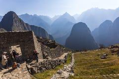 MACHU PICCHU, ПЕРУ, 12-ОЕ АВГУСТА: Machu Picchu, было конструированным Peruvian Стоковое Изображение RF