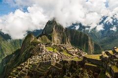 Machu Picchu Потерянный город Inkas в горах Перу Стоковая Фотография RF