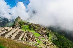 Machu Picchu Потерянный город Inkas в горах Перу Стоковые Изображения