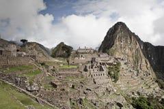 Machu Picchu пусто пасмурно туманнейше После пешего туризма на внушительном стоковое изображение