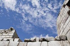 Machu Picchu пусто пасмурно туманнейше После пешего туризма на внушительном стоковая фотография rf