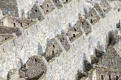 Machu Picchu - рядок домов Стоковые Изображения RF