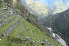 Machu Picchu спрятанный город Inca в облаках стоковое фото rf