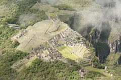 Machu Picchu увиденное от Huayna Picchu Стоковые Фото