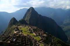 Machu Picchu. View on ancient inca town of Machu Picchu royalty free stock image