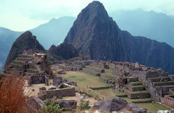 MACHU PICCHU. View of Inka Ruins Machu Picchu in Peru Stock Photos