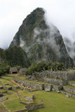 Machu Picchu. View across the ruins of ancient inca town of Machu Picchu in Peru Royalty Free Stock Photography