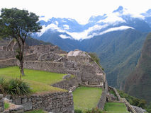 Machu Picchu. Scenic view of Machu Picchu with Andes mountains in background, Urubamba Valley, Peru Royalty Free Stock Photography