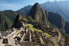 Machu Picchu. The ancient Inca city in the Andes, Peru Stock Photo
