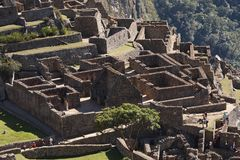Machu Picchu. The ancient Inca city in the Andes, Peru Stock Photography