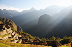 Machu Picchu. World Heritage, UNESCO is located in Peru and is one of the Seven Wonders of the World, an archaeological site in the Andes, near the city of Royalty Free Stock Image