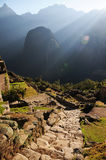Machu Picchu. World Heritage, UNESCO is located in Peru and is one of the Seven Wonders of the World, an archaeological site in the Andes, near the city of Royalty Free Stock Photography