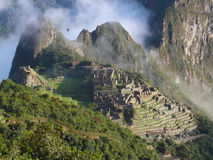 Machu Picchu. Inca ruins of Machu Picchu.  Peru Royalty Free Stock Photos