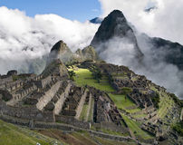 Machu Picchu. Ancient city (Peru Royalty Free Stock Photos