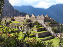 Machu Picchu. In the mist.  Peru Royalty Free Stock Photo