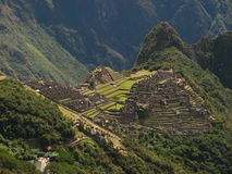Machu Picchu. Is one of the finest Inca sites, mainly due to the fact that the Spanish conquistadores never found it Stock Photography