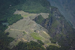 Machu Picchu from above stock images