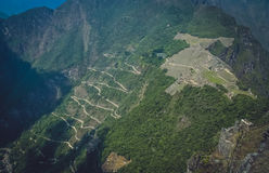 Machu Picchu from above royalty free stock photo