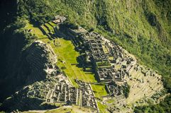 Machu Picchu from above view in early morning Stock Photos