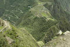 Machu Picchu aerial view Stock Image