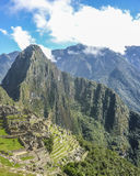 Machu Picchu Aerial View Royalty Free Stock Photos
