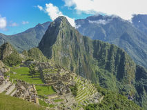 Machu Picchu Aerial View Stock Photography