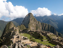 Machu Picchu, the ancient Inca city in the Andes, Cusco. Peru stock photography