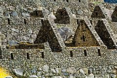 Machu Picchu, the ancient Inca city in the Andes, Peru Royalty Free Stock Images