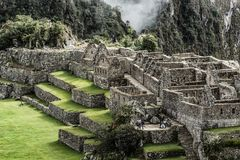 Machu Picchu, the ancient Inca city in the Andes, Peru Royalty Free Stock Photography