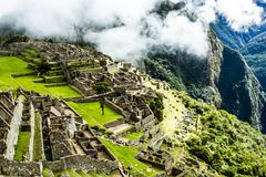 Machu Picchu, the ancient Inca city in the Andes, Peru Stock Photography