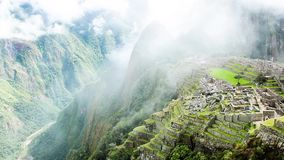 Machu Picchu, the ancient Inca city in the Andes, Peru. stock footage