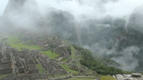 Machu Picchu, the ancient Inca city in the Andes, Peru. stock video