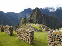 Machu Picchu, the ancient inca city of Peru royalty free stock photography