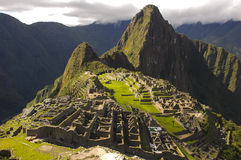 Machu Picchu. In the Andes, Peru royalty free stock images