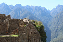 Machu Picchu and the Andes Royalty Free Stock Photo
