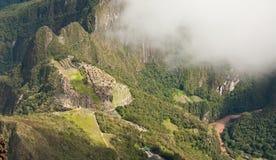 Machu Picchu - Ansicht von oben genanntem - Peru Stockfoto