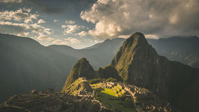 Machu Picchu archeological site Stock Photo