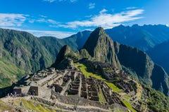 Machu Picchu arruina los Andes peruanos Cuzco Perú Imágenes de archivo libres de regalías