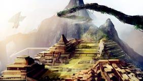 Machu Picchu art. Royalty Free Stock Photography