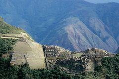 Machu Picchu as seen from Putucusi lookout Stock Photos