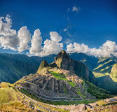 Machu Picchu. Beautiful panorama overview above the world heritage site Stock Photography